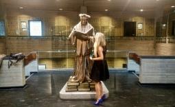 Diploma laten zien aan Erasmus