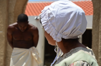 Re-enactment slavenhandel Curaçao