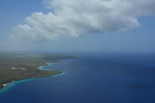 De zuidkust van het eiland. Schitterend niet waar...