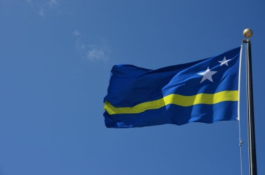 De vlag van Curaçao
